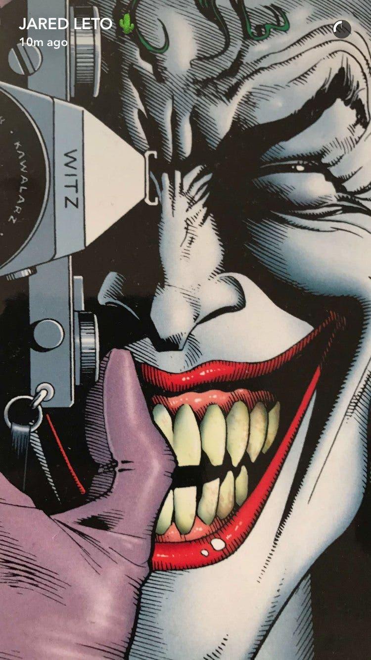 Imágenes del Joker: La Broma Asesina en el Snapchat de Leto