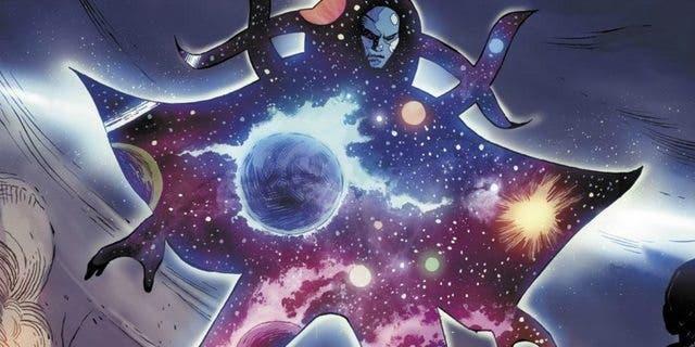 Eternidad (Peter Dinklage) en Vengadores 3 La Guerra del Infinito