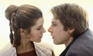 Han Solo y Leia en la saga de Star Wars amor