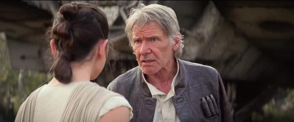 Han Solo y Rey en Star Wars El despertar de la Fuerza