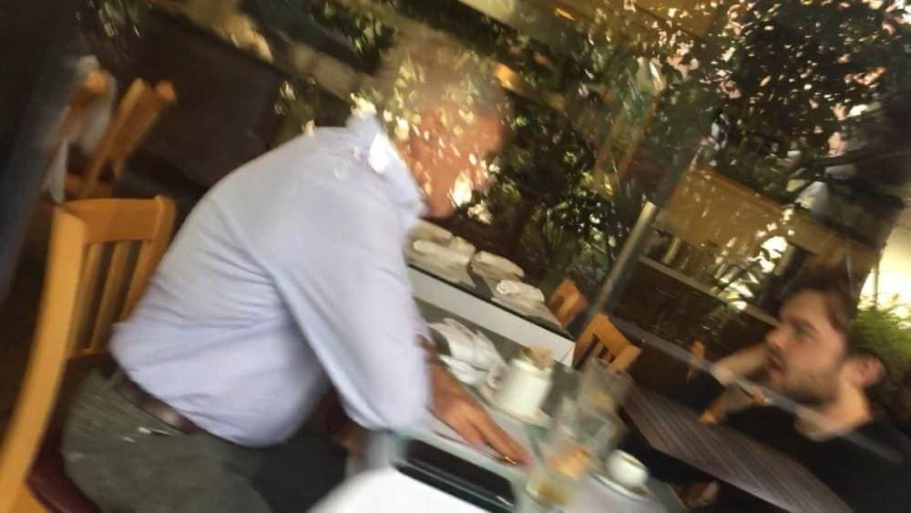 Harrison Ford comiendo con el nuevo Han Solo Alden Ehrenreich