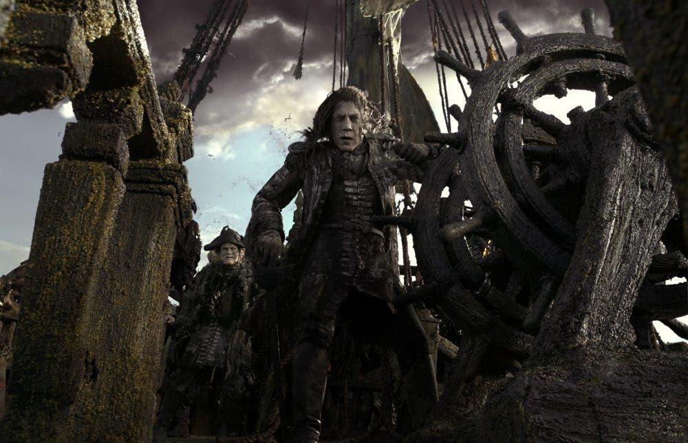 Javier Bardem como Capitán Salazar en Piratas del Caribe 5
