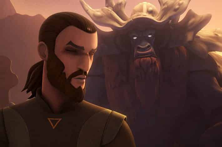 Kanan y El Bendu en 'Star Wars Rebels'