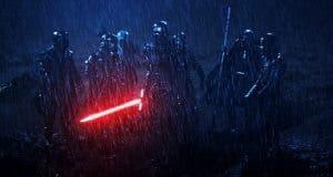 Kylo Ren junto a los Caballeros Ren en 'Star Wars: El despertar de la Fuerza'