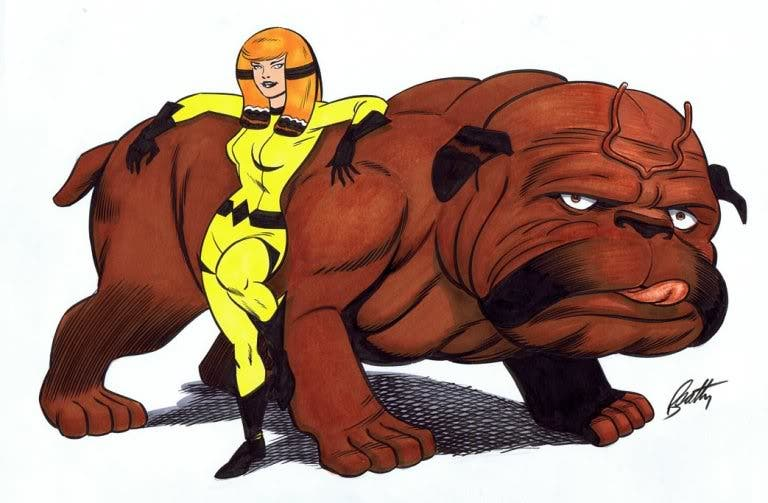 Lockjaw y Crystal (Marvel)