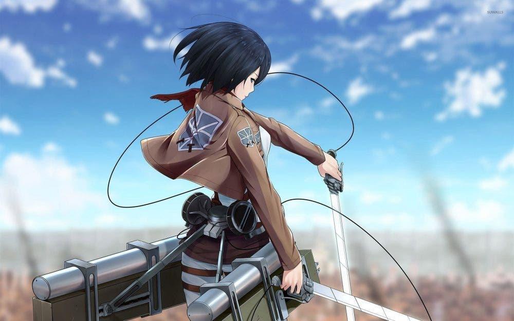 Mikasa en Ataque a los Titanes