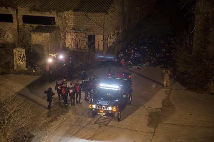 zombies en madrid por el estreno de resident evil