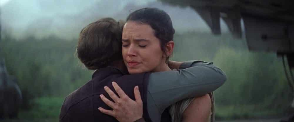 Rey y Leia en Star Wars El despertar de la Fuerza