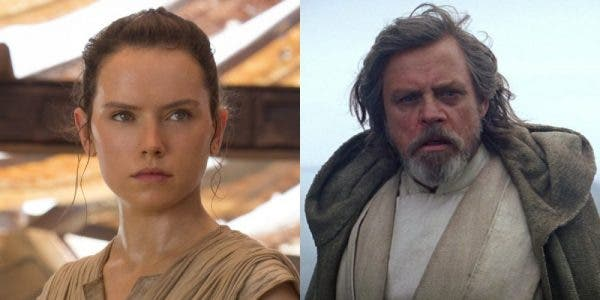 Rey y Luke Skywalker en Star Wars: Los Últimos Jedi