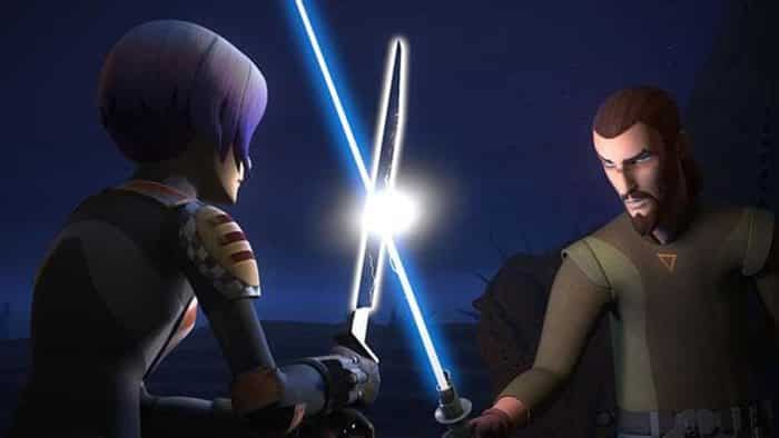 Sabine y Kanan en 'Star Wars Rebels'