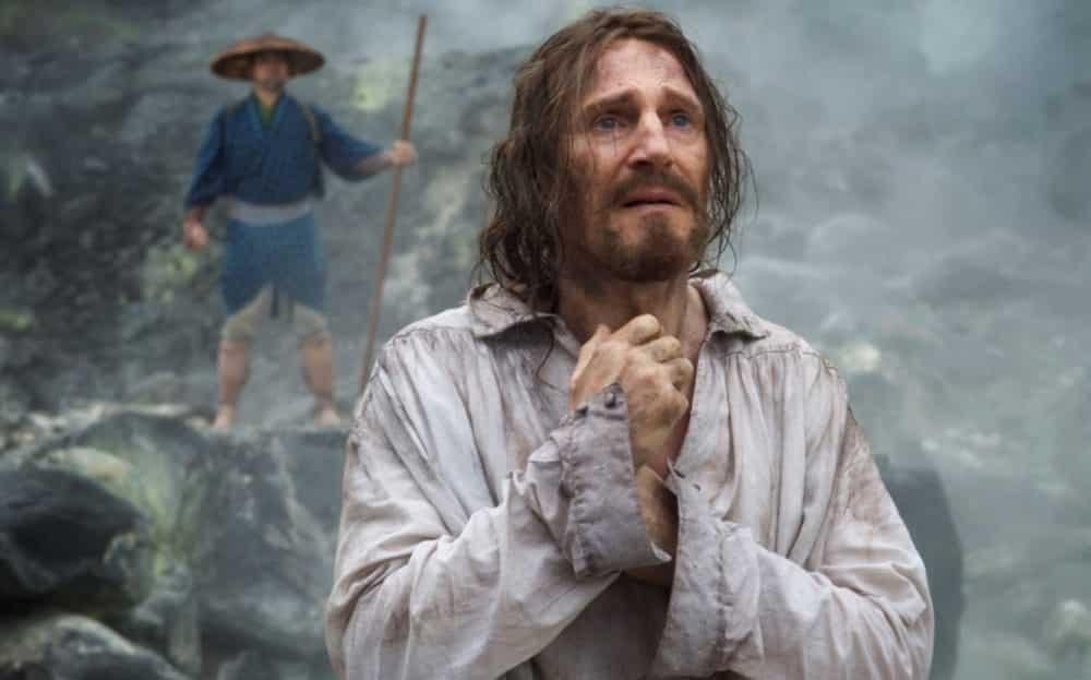 Liam Neeson en un fotograma de Silencio
