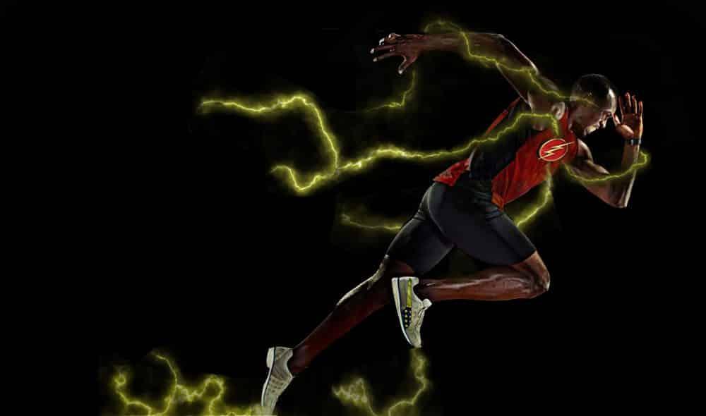 Usain Bolt en la pelicula de Flash
