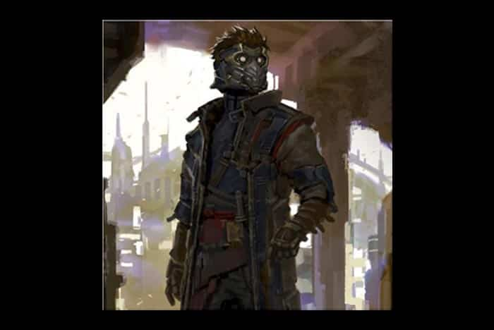 concept art de Star-Lord en 'Guardianes de la Galaxia'