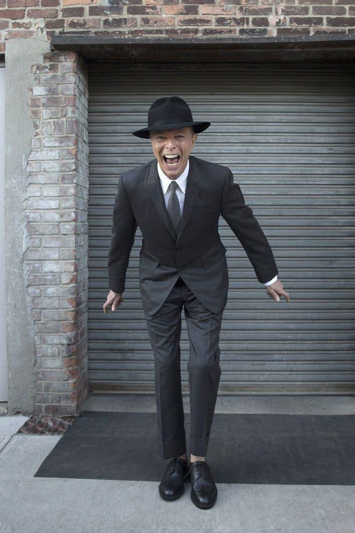 Última imagen sesión de fotos de David Bowie para Jimmy King