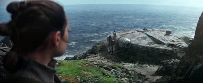 despedida de Rey en Star Wars El despertar de la Fuerza