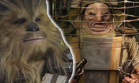 escena eliminada Star Wars VII El despertar de la Fuerza Chewbacca vs Unkar Plutt