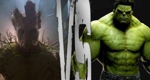 Hulk vs Groot en 'Vengadores: La Guerra del Infinito'