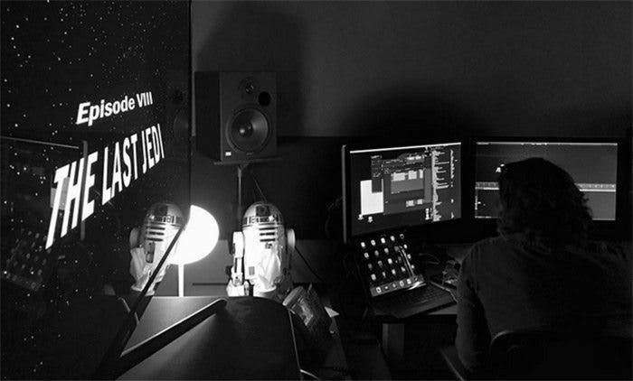 imagen del rodaje de 'Star Wars: The Last Jedi' con Rian Johnson