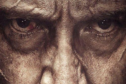 'Logan' póster llorando de Lobezno