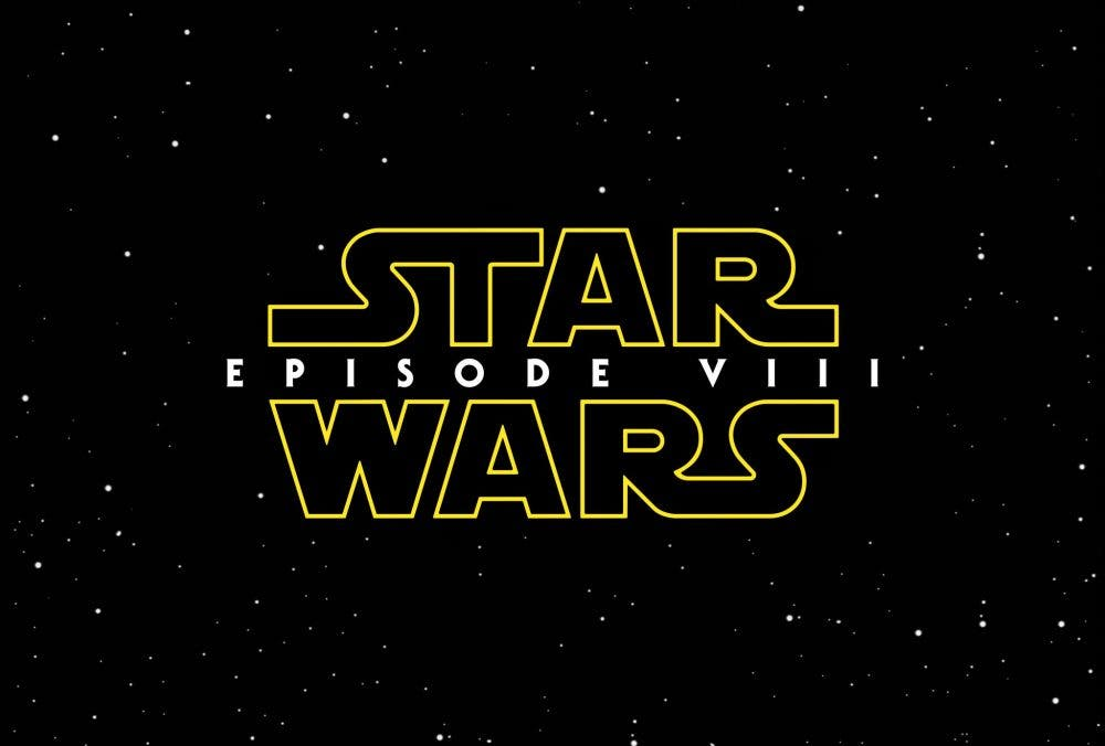 logo oficial de Star Wars VIII