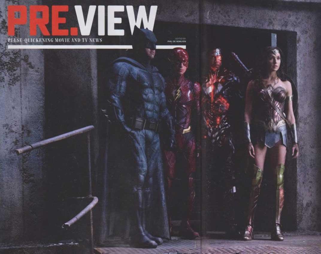 nueva imagen de la 'Liga de la Justicia' en la revista Preview