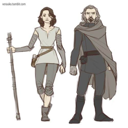 nuevo look de Luke y Rey en Star Wars Episodio VIII (6)