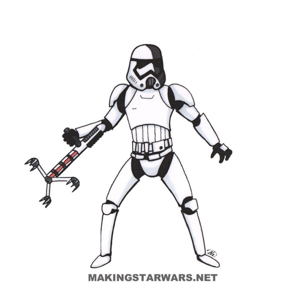 nuevo stormtrooper en Star Wars VIII