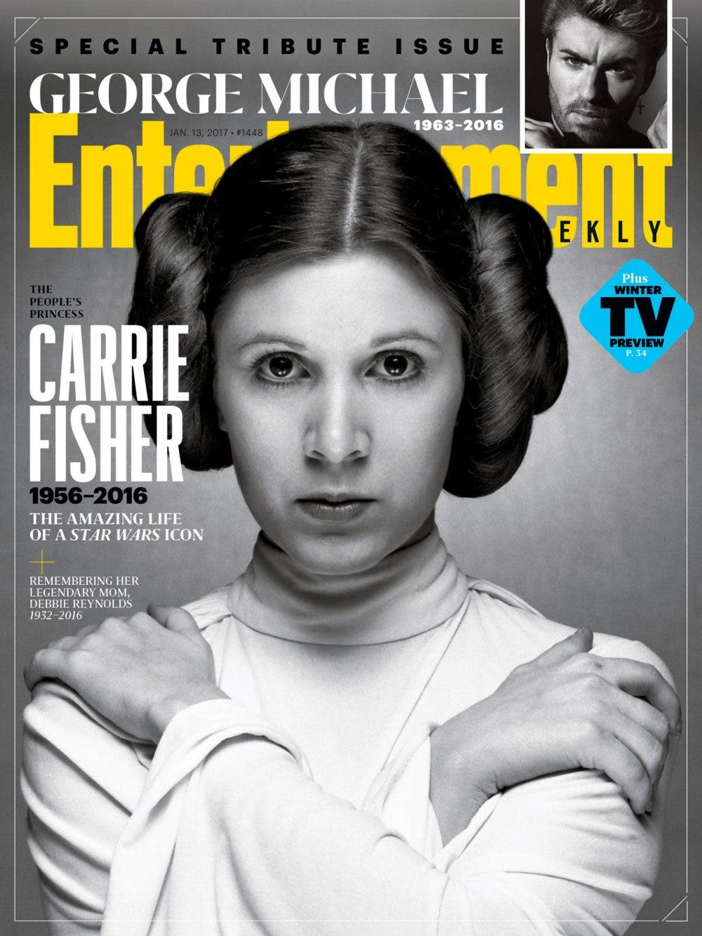 portada Entertainment Weekly con la princesa Leia de Star Wars