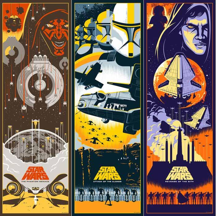 Poster ineditos precuelas star Wars