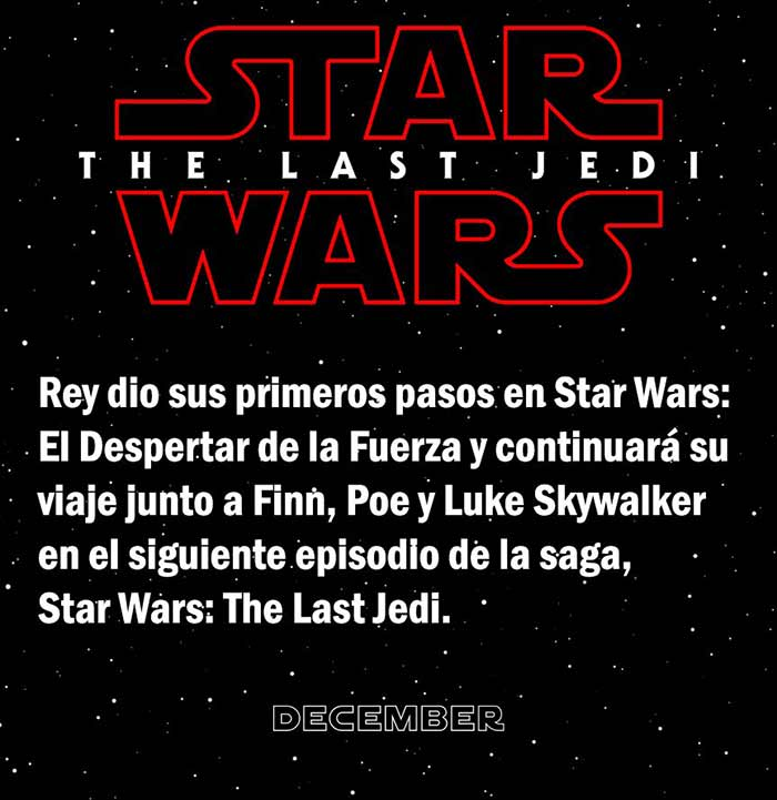 sinopsis oficial de 'Star Wars: The Last Jedi'