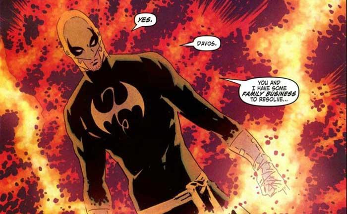 traje de Iron Fist para la serie de Marvel y Netflix