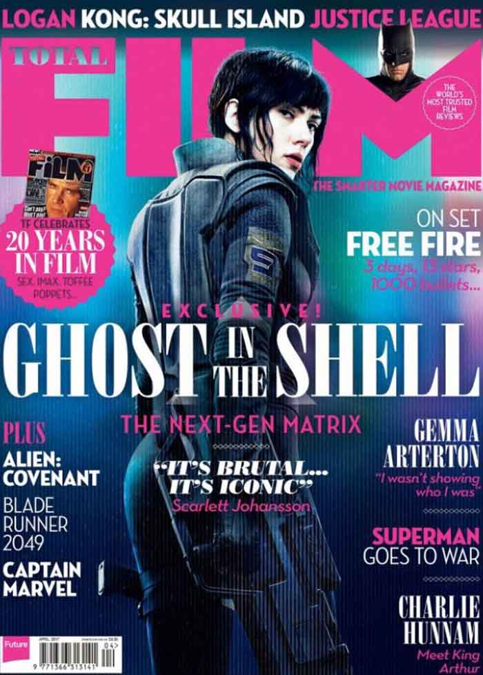 Impresionante portada de Scarlett Johansson en 'Ghost in the Shell'