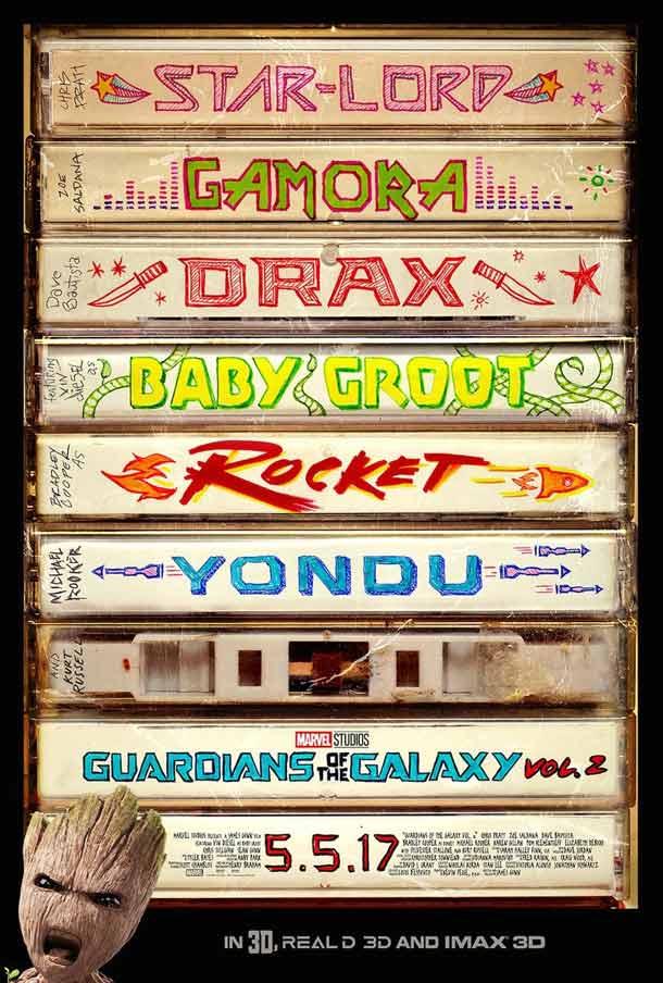 nuevo póster de Guardianes de la Galaxia Vol. 2