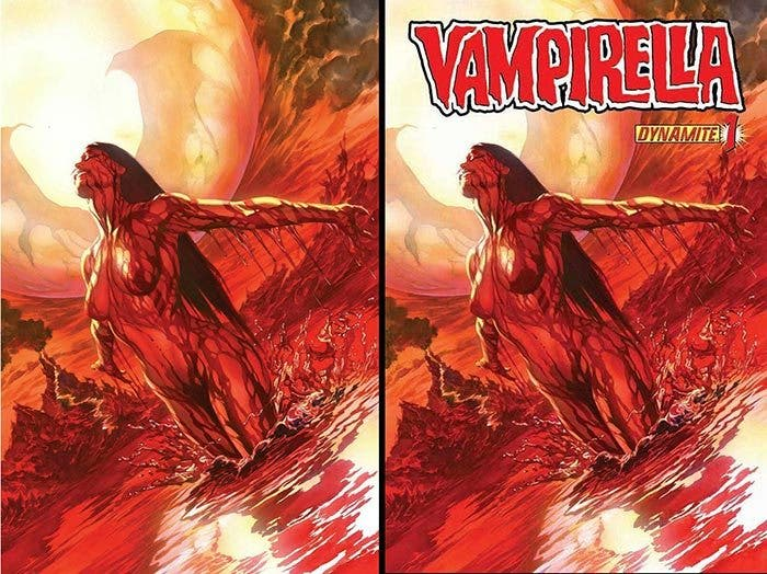 portada censurada de Alex Ross en Vampirella