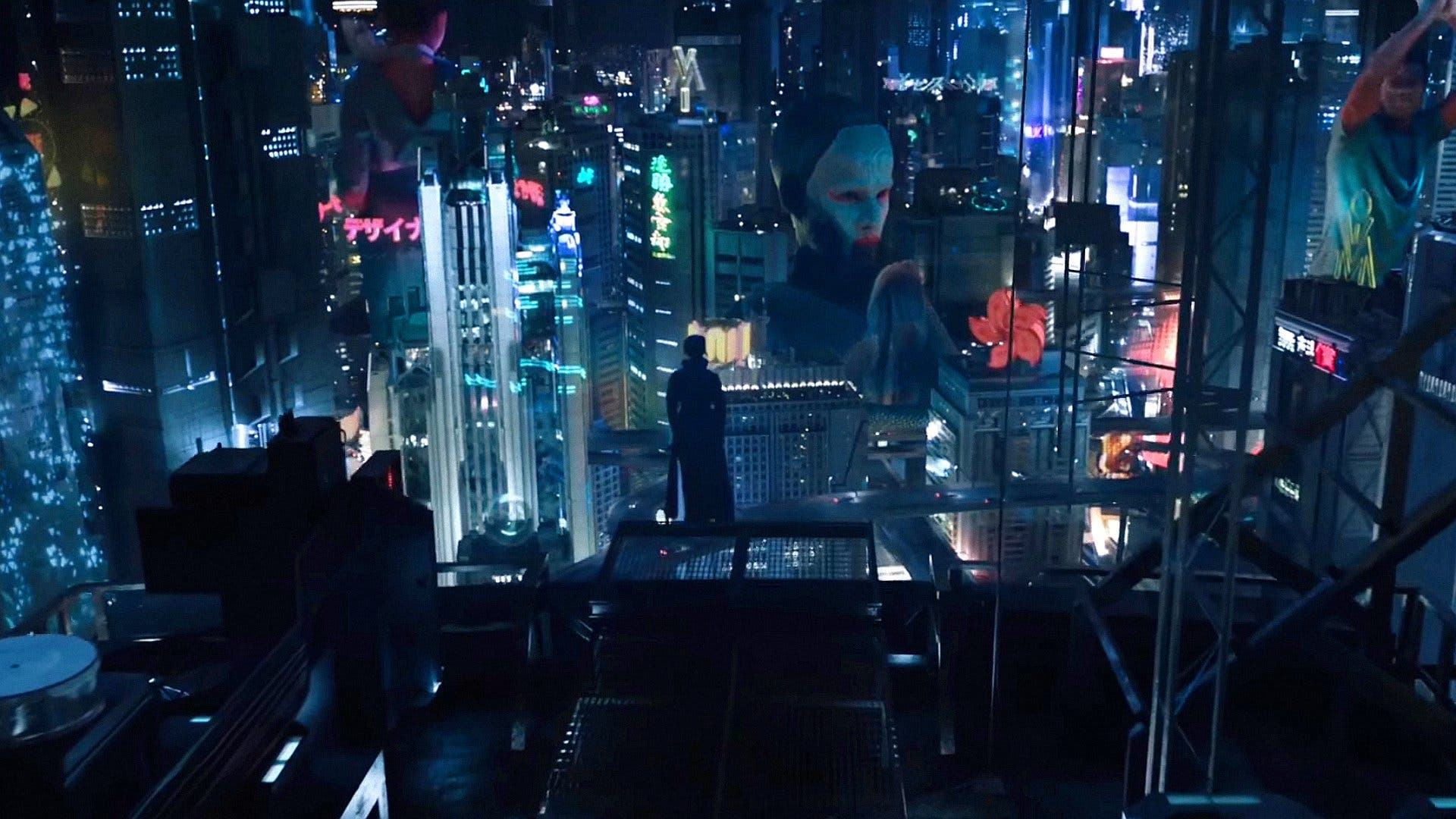 "Image from the movie ""Ghost in the Shell"""