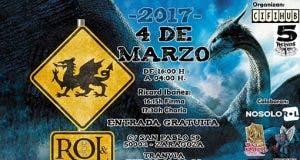 Cartel Rol & Roll V jornada de Juegos de rol en Zaragoza