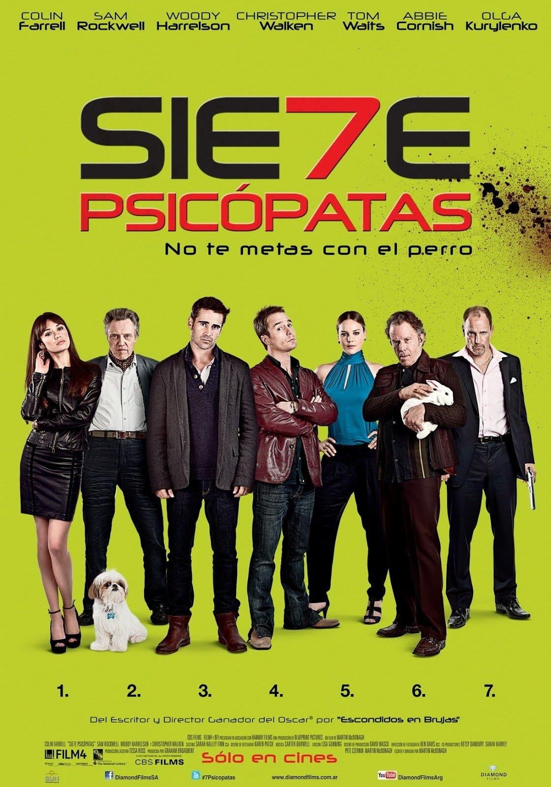 Poster de 'Siete psicópatas'