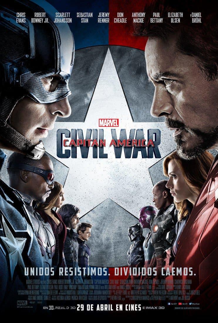Poster de 'Capitán América Civil War'