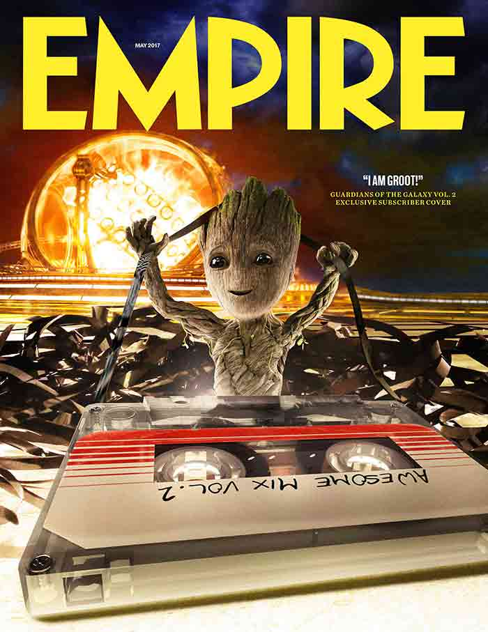 portada de Empire con Baby Groot en 'Guardianes de la Galaxia Vol. 2'