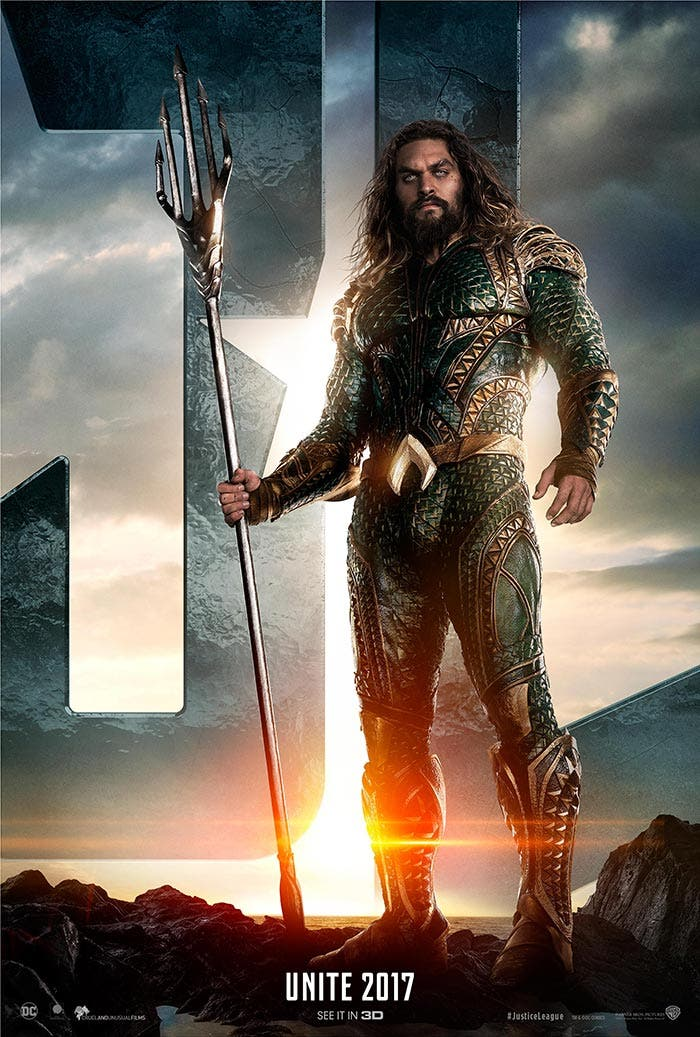 'Liga de la Justicia': Espectacular póster protagonizado por Aquaman