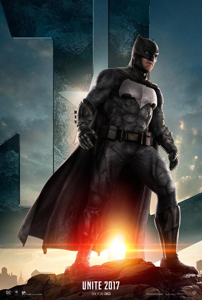 poster de batman en la liga de la justicia 2017