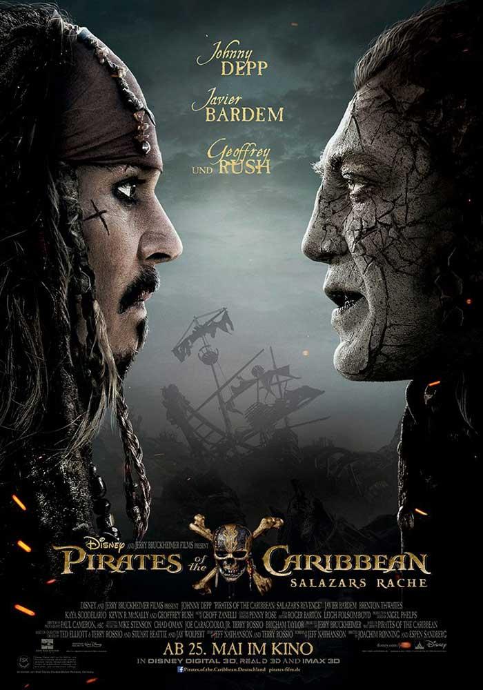 Póster Piratas del Caribe 5