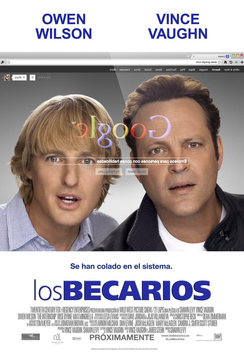 Poster de 'Los becarios'