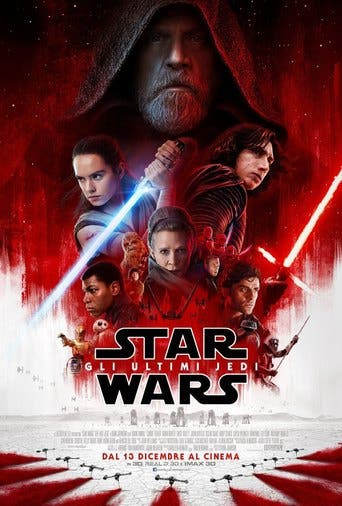 "Poster for the movie ""Star Wars Episodio VIII: Los últimos Jedi"""