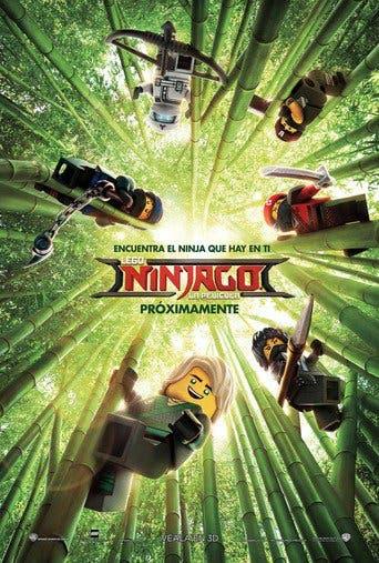 "Poster for the movie ""La LEGO Ninjago película"""