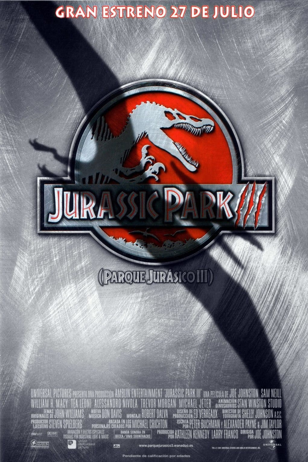 Poster de 'Parque Jurásico III'