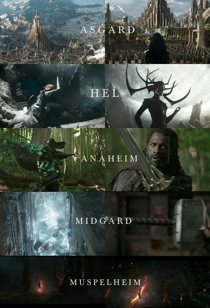 Hasta 5 mundos hemos visto en el tráiler de 'Thor: Ragnarok'