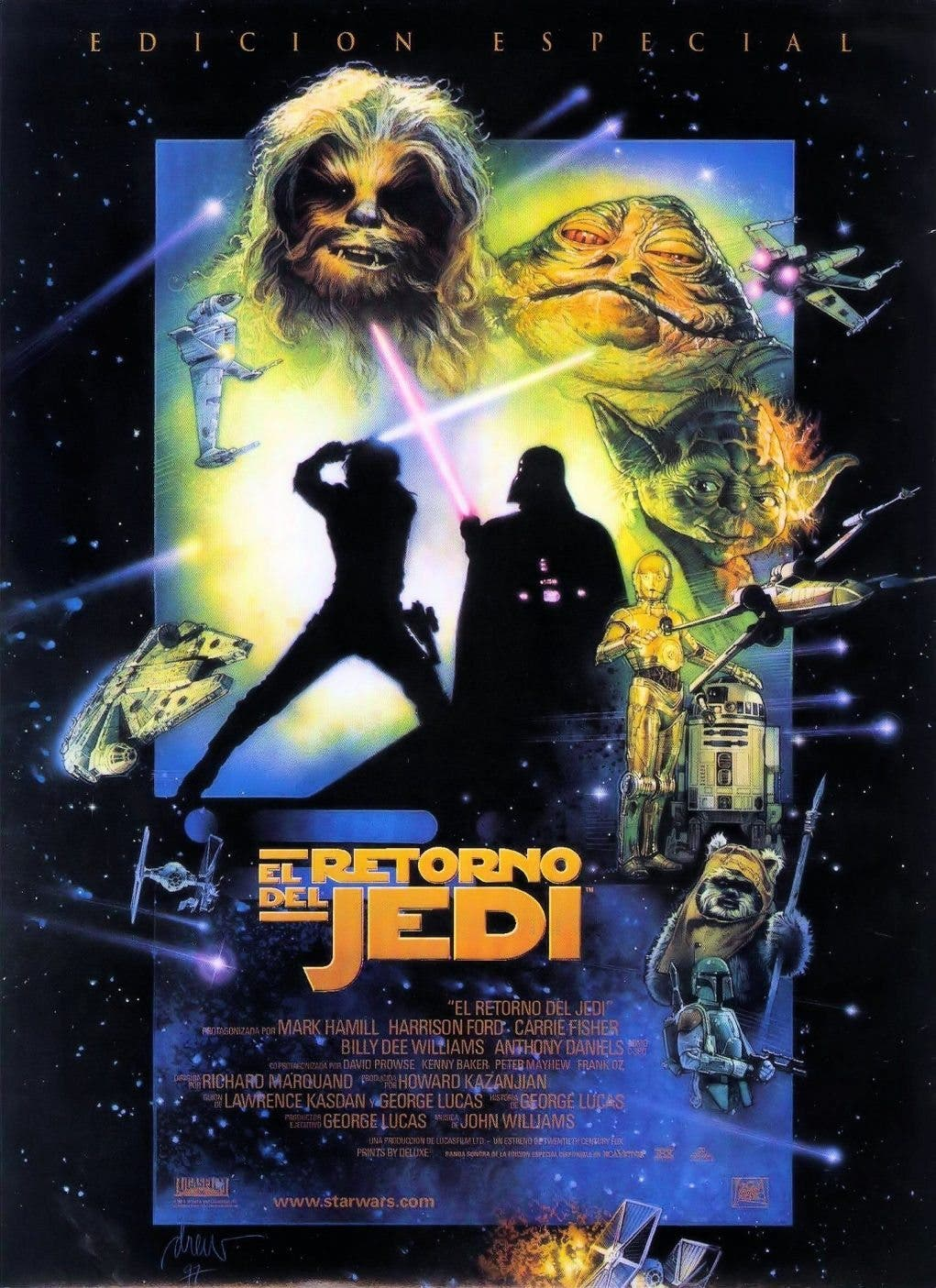 Poster de 'La guerra de las galaxias. Episodio VI: El retorno del Jedi'