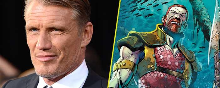 Dolph Lundgren Rey Nereus en Aquaman
