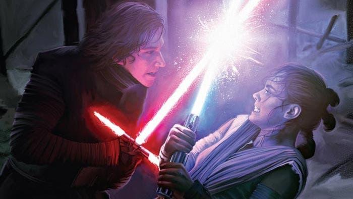 Kylo Ren luchando contra Rey en Star Wars: El despertar de la fuerza